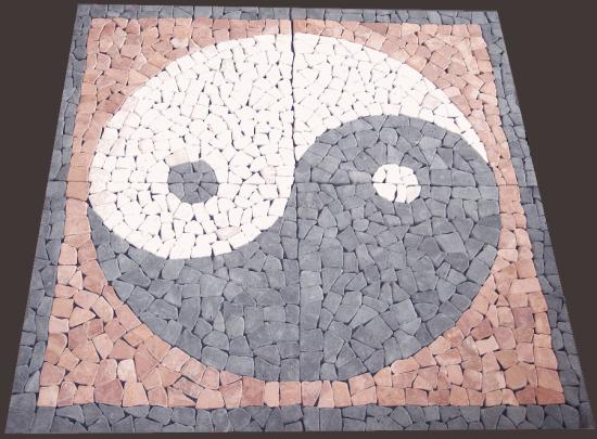 Mosa que en pierre bleue et calcaire import de turquie for Salle de bain yin yang