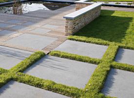 Dalle dallage en pierre pour terrasse et jardin for Carrelage exterieur 100x100