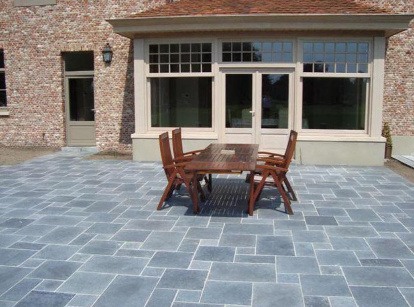 Ordinaire terrasse en pierre bleue prix 6 dalle en - Carrelage exterieur pierre bleue ...