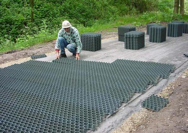 Les Dalles Gazon Pehd Polyethylene Haute Densite Pour Parking Et
