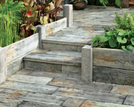 stunning bordure jardin beton imitation bois ideas. Black Bedroom Furniture Sets. Home Design Ideas