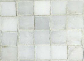 Mosaique marbre old white vieilli 18x18