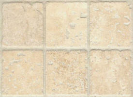 Mosaique travertin beige vieilli 48x48