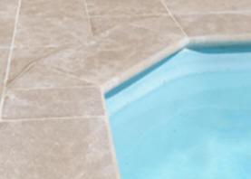 Margelle de piscine en Pierre Blanche et en Grès : France ...